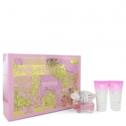 Versace Bright Crystal Gift Set 50 ml Eau De Toilette Spray + 50 ml Body Lotion + 50 ml Shower Gel