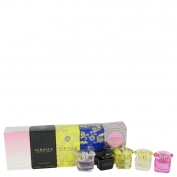 Versace Bright Crystal Gift Set Miniature Collection Includes Crystal Noir, Bright Crystal, Yellow Diamond, Bright Crystal