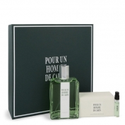 Caron Pour Un Homme De Caron Gift Set 4.2 oz Eau De Toilette Spray + 3.3 oz Soap + .06 oz Vial (sample)