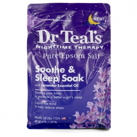 Dr Teal's Dr Teal's Nighttime Therapy Pure Epsom Salt Sooth & Sleep Soak with Lavender Essential Oil